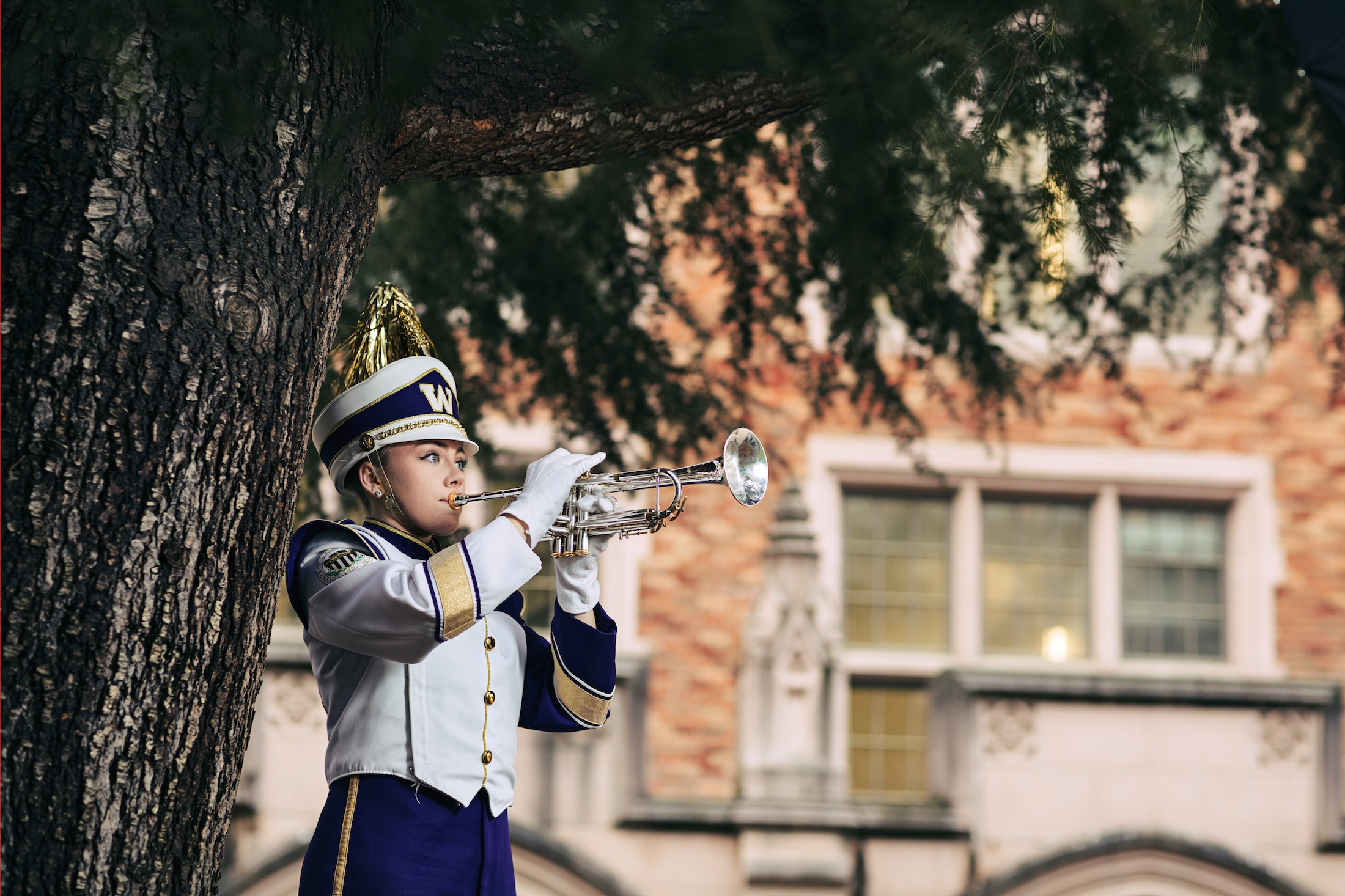 courtney porter, courtney porter uw, husky marching band, mary gates hall uw